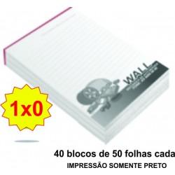 BLOCO DE ANOTAÇÕES 1x0 Cód. BA10