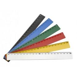 Régua Plástica Tipo Escolar 20 cm