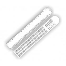 Régua Ferragista 20 cm Código:RF20