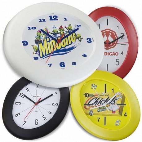 Relógio de Parede Oval 24 cm x 30 cm